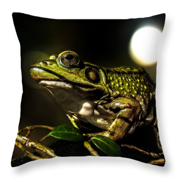 And This Frog Can Sing Throw Pillow by Bob Orsillo