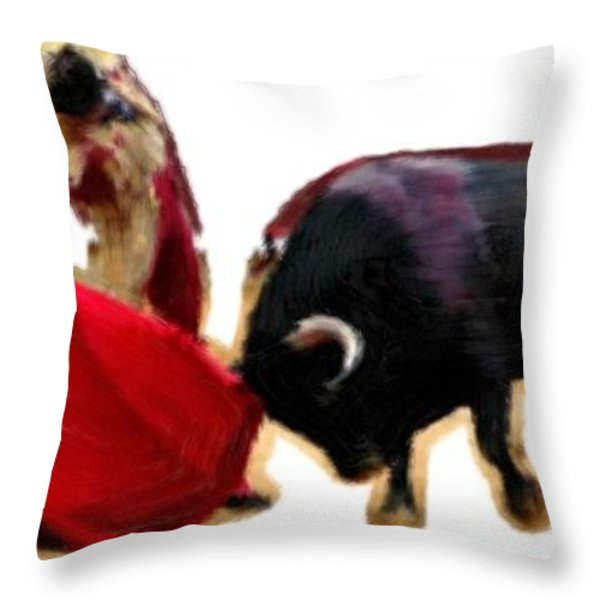Andale Throw Pillow by Bruce Nutting