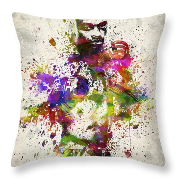 Anderson Silva Throw Pillow by Aged Pixel
