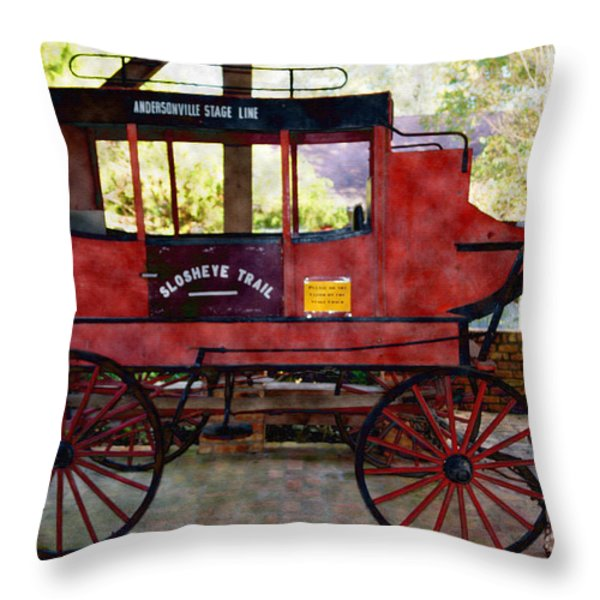 Andersonville Stage Line Slosheye Trail Throw Pillow by Kim Pate