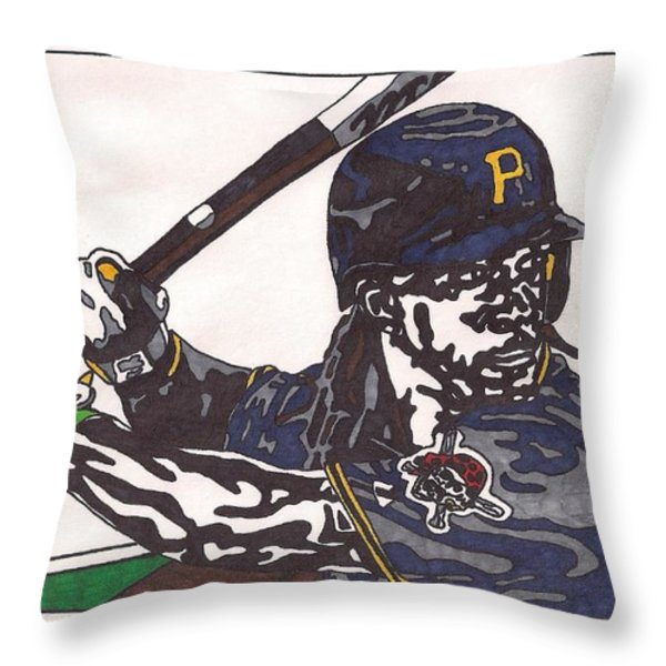 Andrew Mccutchen Throw Pillow by Jeremiah Colley