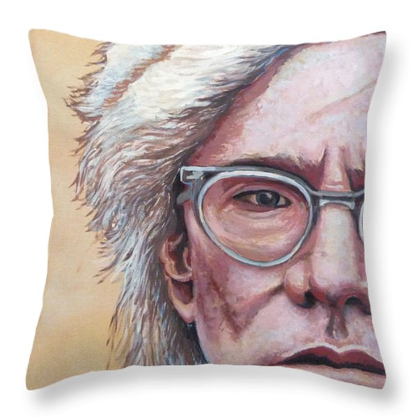 Andy Warhol Throw Pillow by Tom Roderick