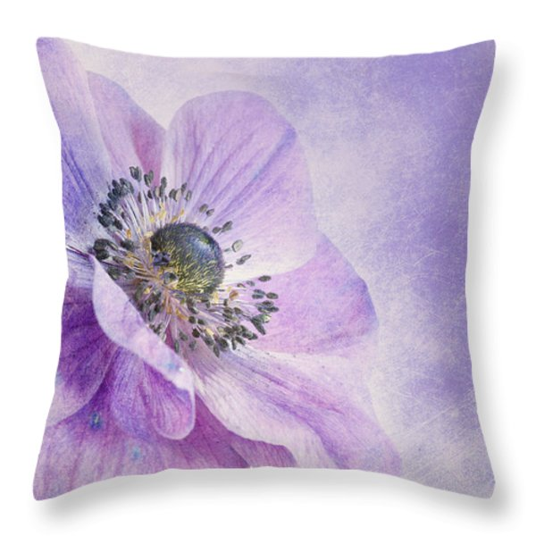 anemone Throw Pillow by Priska Wettstein