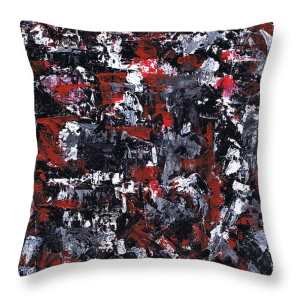 Aneurysm 1 - Left Throw Pillow by Kamil Swiatek