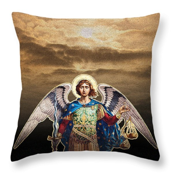 Angel Throw Pillow by David Davies