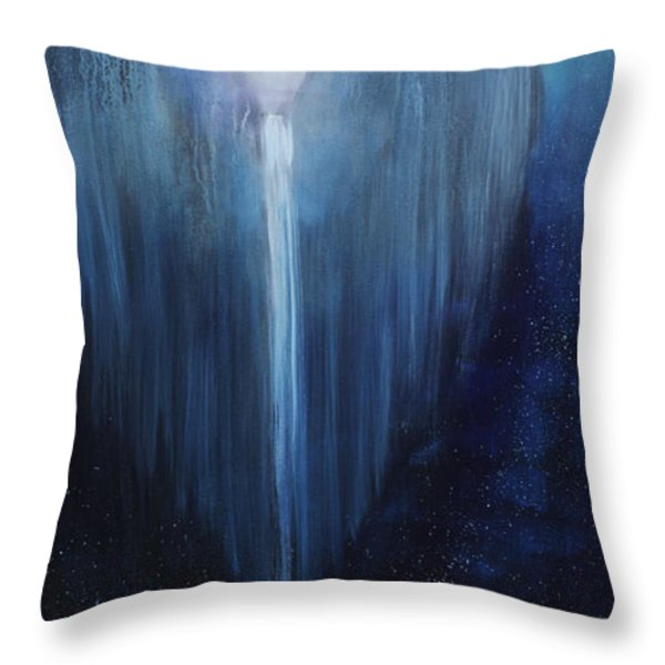 Angel Falls Throw Pillow by James Kruse
