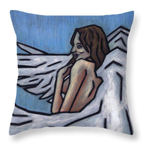 Angel Throw Pillow by Kamil Swiatek