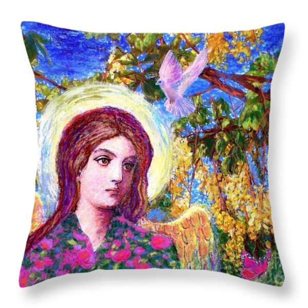 Angel Love Throw Pillow by Jane Small