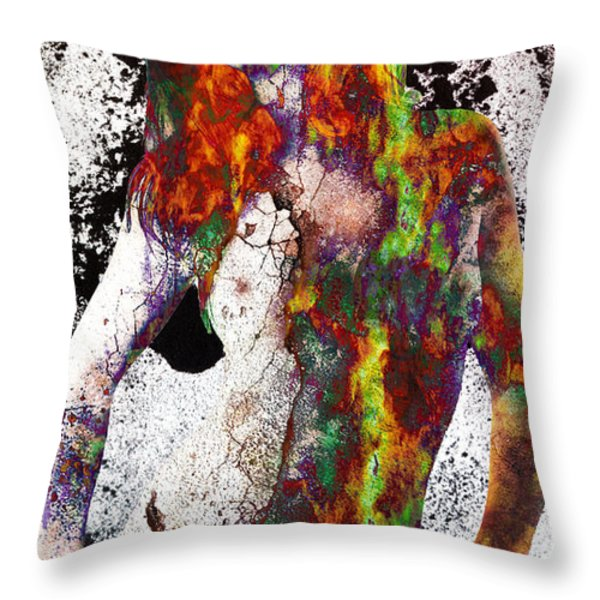 Angel of Debris Throw Pillow by Michael  Volpicelli