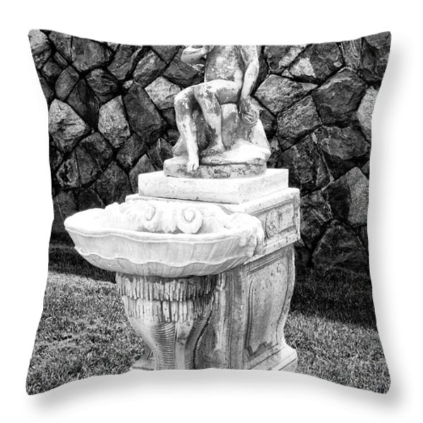 ANGEL SANCTUARY Biltmore Asheville NC Throw Pillow by William Dey