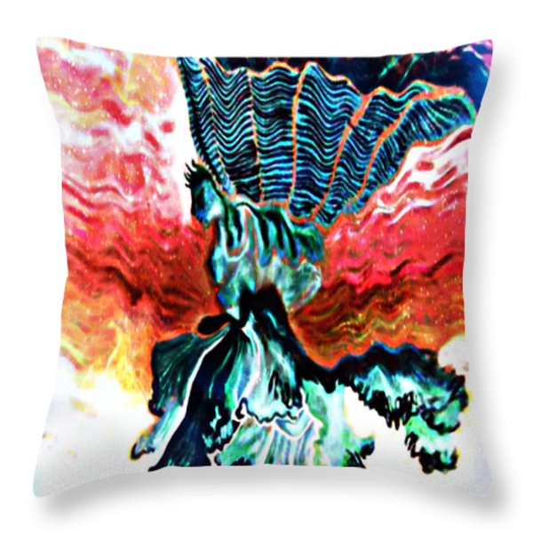 Angel Solar Throw Pillow by Genevieve Esson
