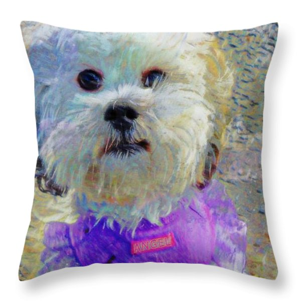 Angel Throw Pillow by Tisha McGee