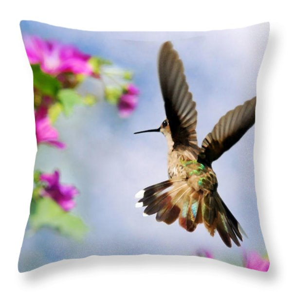 Angel Wings  Throw Pillow by Christina Rollo