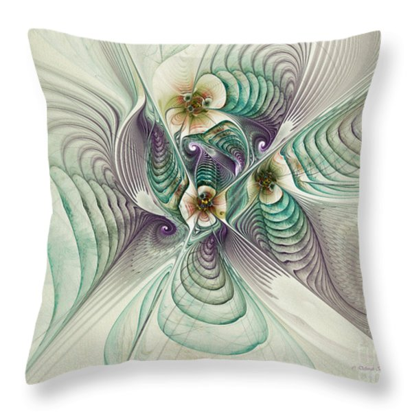 Angelic Entities Throw Pillow by Deborah Benoit