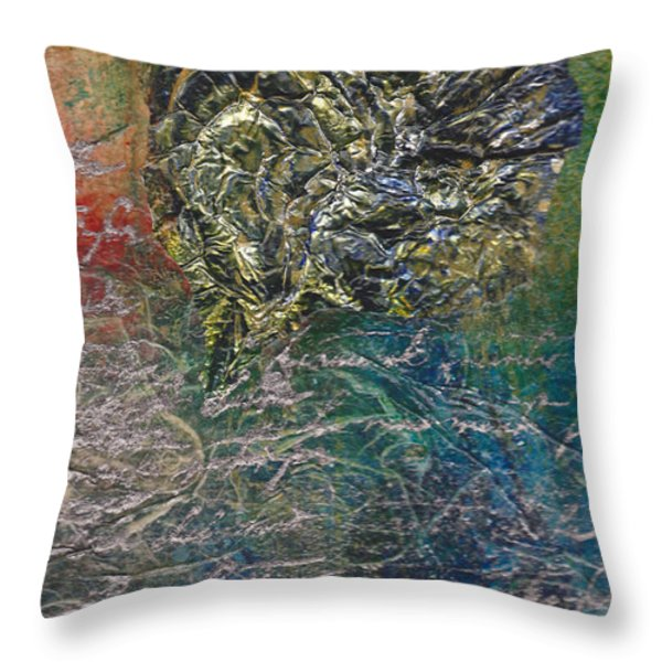 Angels And Mermaids Throw Pillow by Cindy Johnston