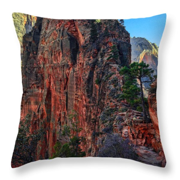Angel's Landing Throw Pillow by Chad Dutson