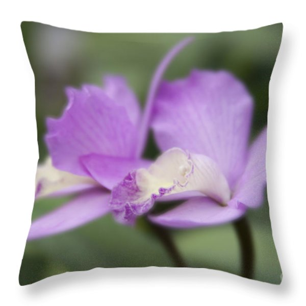 Angels Treasure Hawaii Orchid Throw Pillow by Sharon Mau