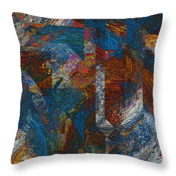 Angles And Curves Abstract Throw Pillow by Jack Zulli