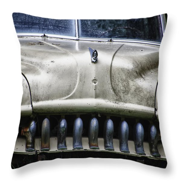Angry Throw Pillow by Joan Carroll