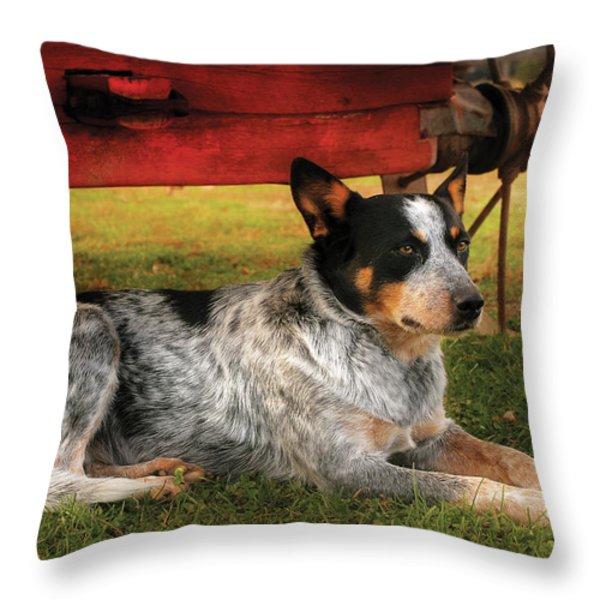Animal - Dog - Always Faithful Throw Pillow by Mike Savad