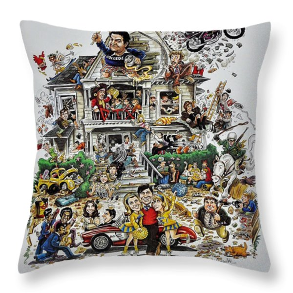 Animal House  Throw Pillow by Movie Poster Prints