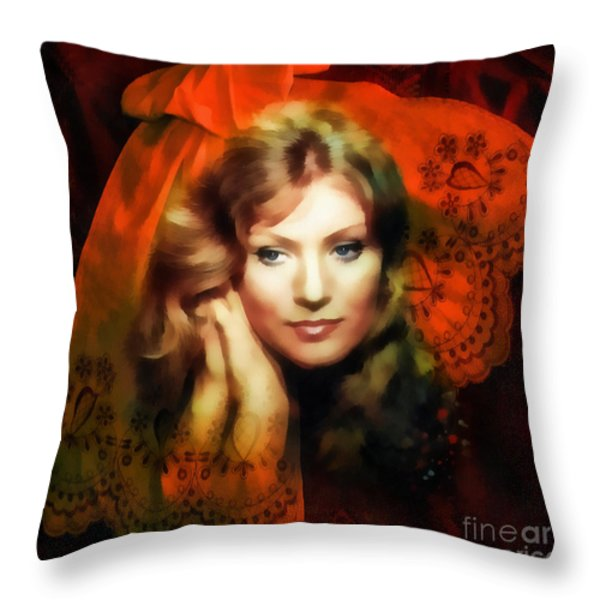 Anna German Throw Pillow by Mo T