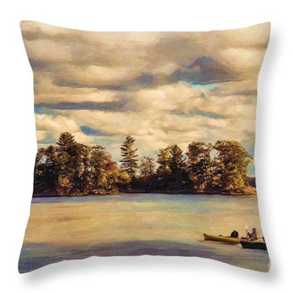 Anne Lacys Hamlin Lake Throw Pillow by Lianne Schneider and Anne Lacy