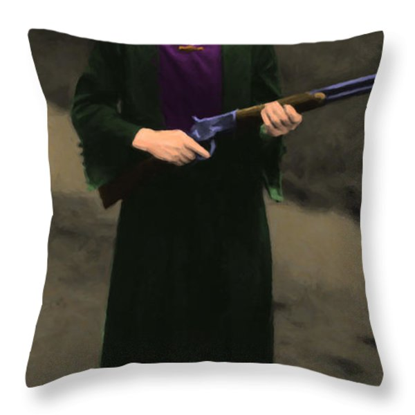 Annie Oakley 20130514 Long Throw Pillow by Wingsdomain Art and Photography