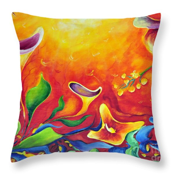 Another Dream Throw Pillow by Teresa Wegrzyn