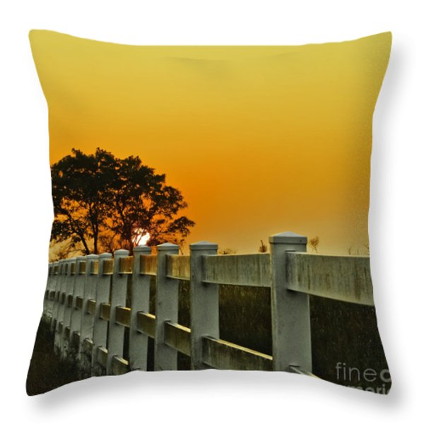 Another Tequila Sunrise Throw Pillow by Robert Frederick