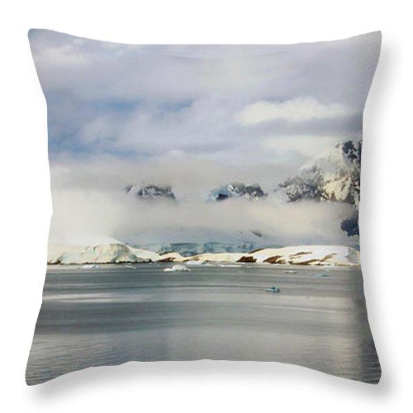 Antarctica Panorama Throw Pillow by Mountain Dreams