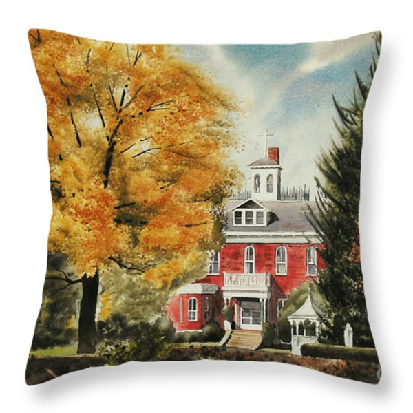 Antebellum Autumn Ironton Missouri Throw Pillow by Kip DeVore