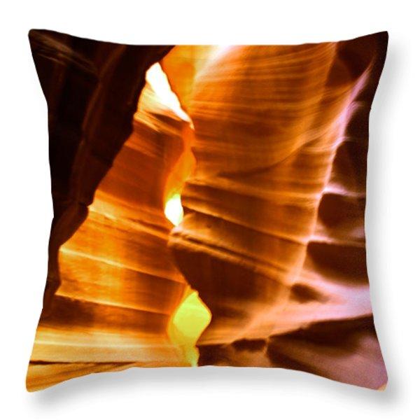 Antelope Canyon - Canyon Abstract Throw Pillow by Aidan Moran