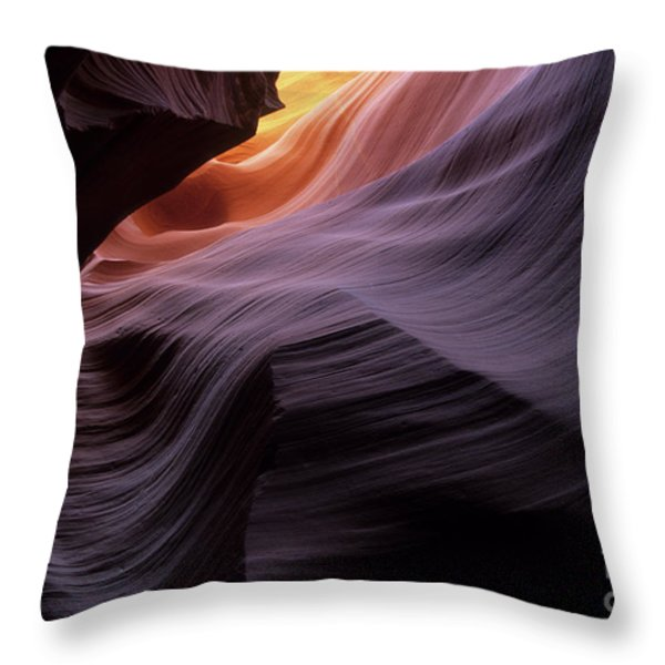 Antelope Canyon Movement In Stone Throw Pillow by Bob Christopher