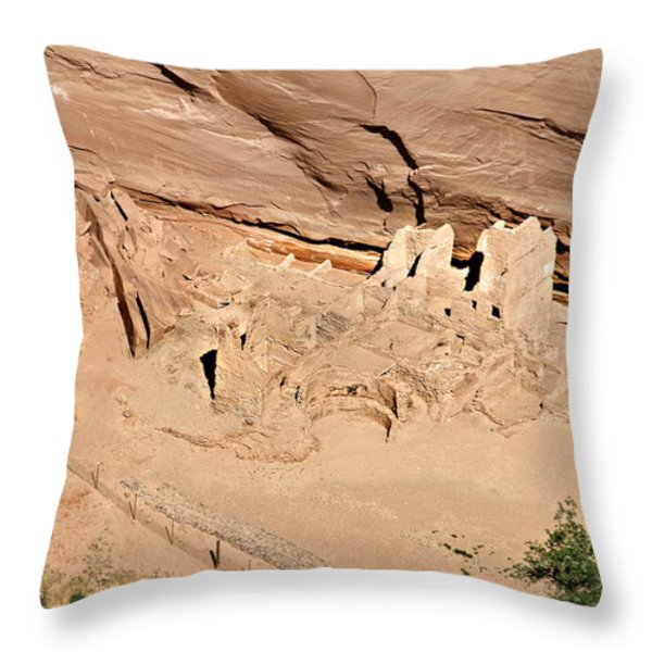 Antelope House Ruins Blending In Throw Pillow by Christine Till