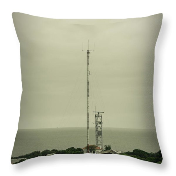 Antenna Throw Pillow by Marco Oliveira