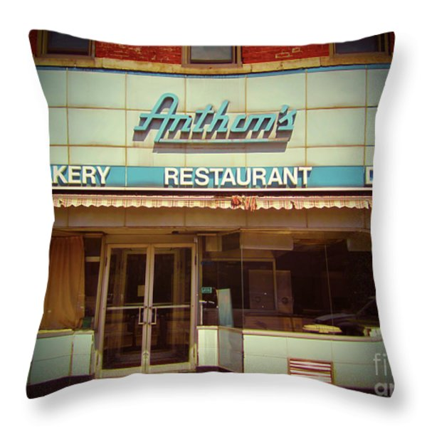 Anthon's Bakery Pittsburgh Throw Pillow by Jim Zahniser