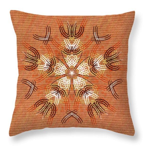 Anthropomorphic Mandala Throw Pillow by Hakon Soreide