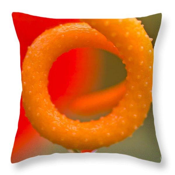 Anthurium Detail Throw Pillow by Heiko Koehrer-Wagner