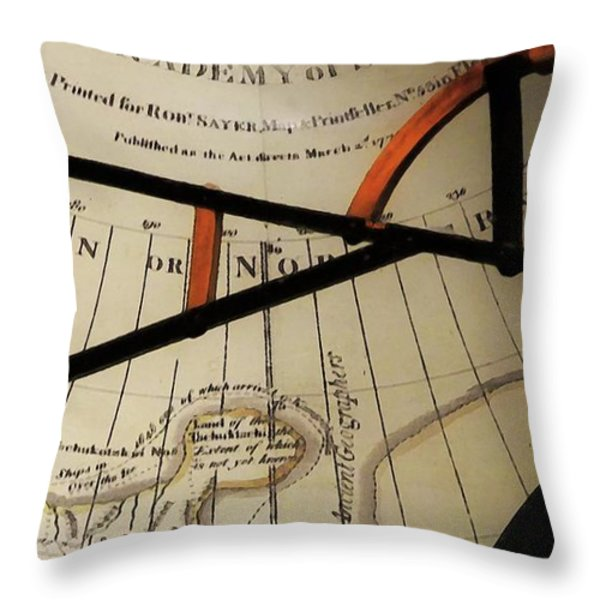 Antiquaria Nautica Throw Pillow by RC DeWinter