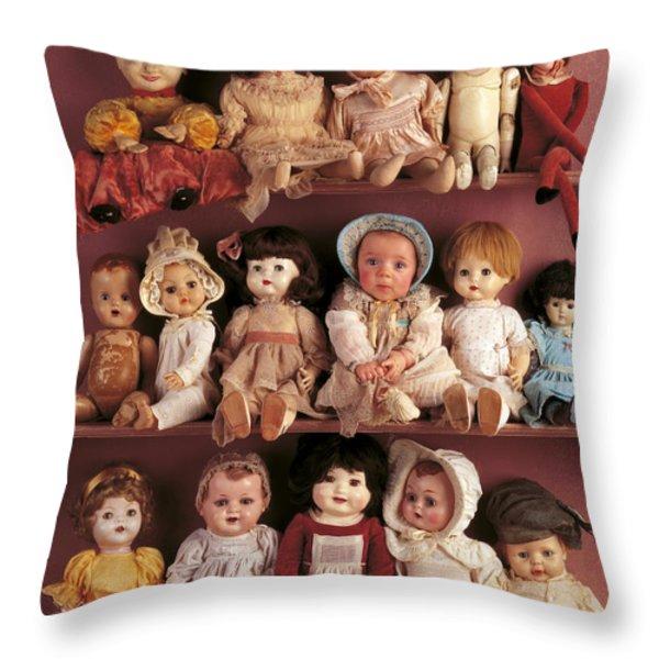 Antique Dolls Throw Pillow by Anne Geddes