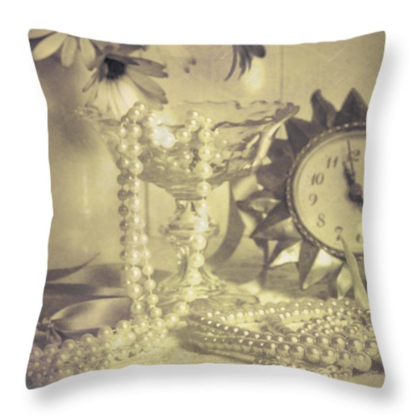 Antique Dressing Table Throw Pillow by Amanda And Christopher Elwell