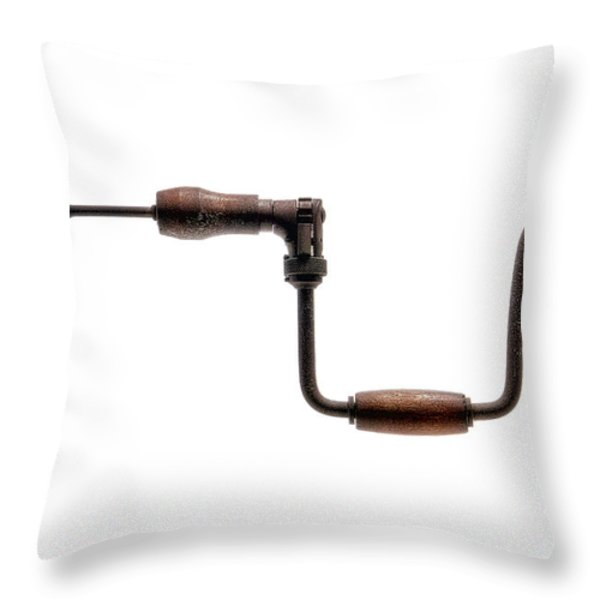 Antique Drill  Throw Pillow by Olivier Le Queinec