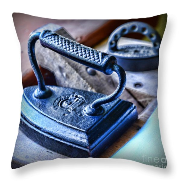 Antique Iron Throw Pillow by Paul Ward