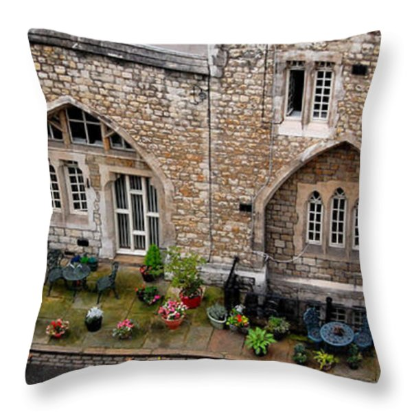 Antique London Throw Pillow by Gina Dsgn