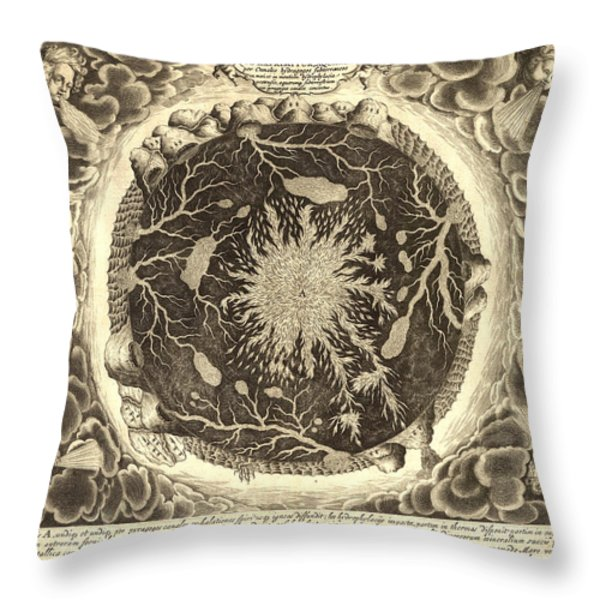 Antique Mystical Map Throw Pillow by Gary Grayson