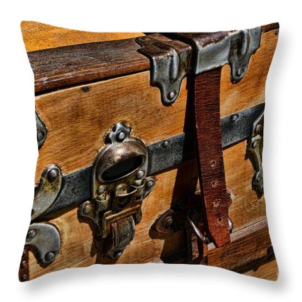 Antique Steamer Truck Detail Throw Pillow by Paul Ward