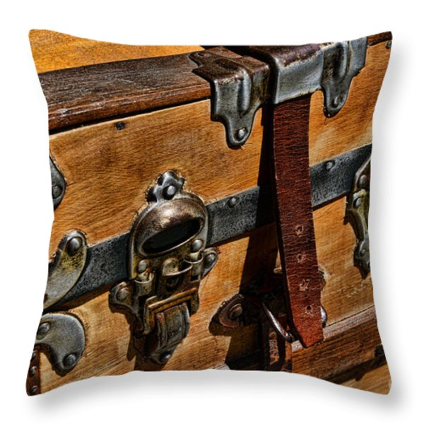 Antique Steamer Truck Detail Throw Pillow by Paul Ward