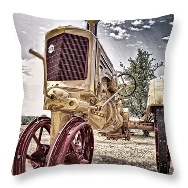 Antique Tractor Throw Pillow by Tamyra Ayles