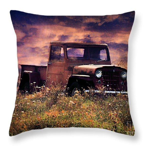 Antique Truck Throw Pillow by Darren Fisher